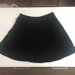 Top shop black Cotton w texture skirt